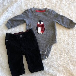 3 Months Penguin Outfit